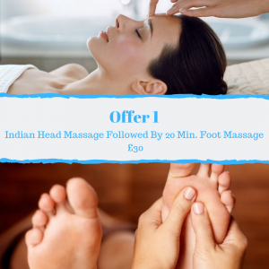 Treat Mum to an Indian Head Massage Followed By A 20 Minute Foot Massage Total Duration 65 Minutes